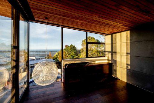 dom nad oceanaem NZeeland wnętrze
